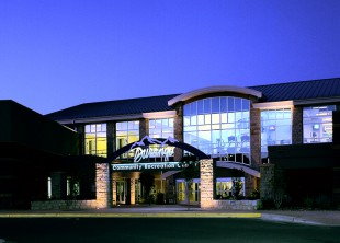 09910-Durango Rec Center-Wayne Thom-Ext Front Entrance at Evening-SM