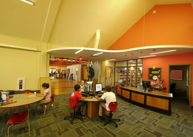 Gypsum Library kids desk